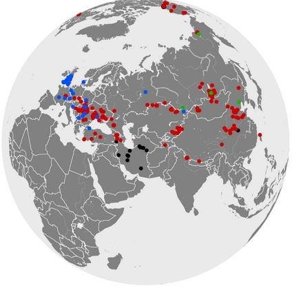 Карта распространения пищух